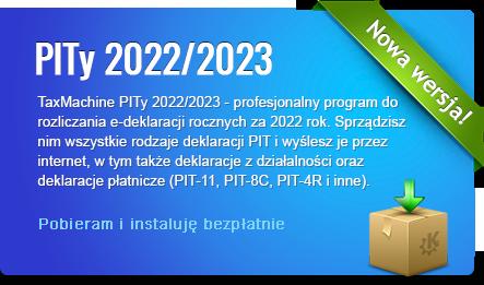 Program PITy TaxMachine 2018/2019 - kliknij aby pobrać